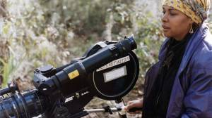 """Julie Dash on the set of """"Daughters of the Dust"""""""
